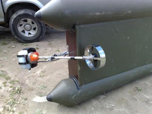 Из триммера мотор для лодки пвх