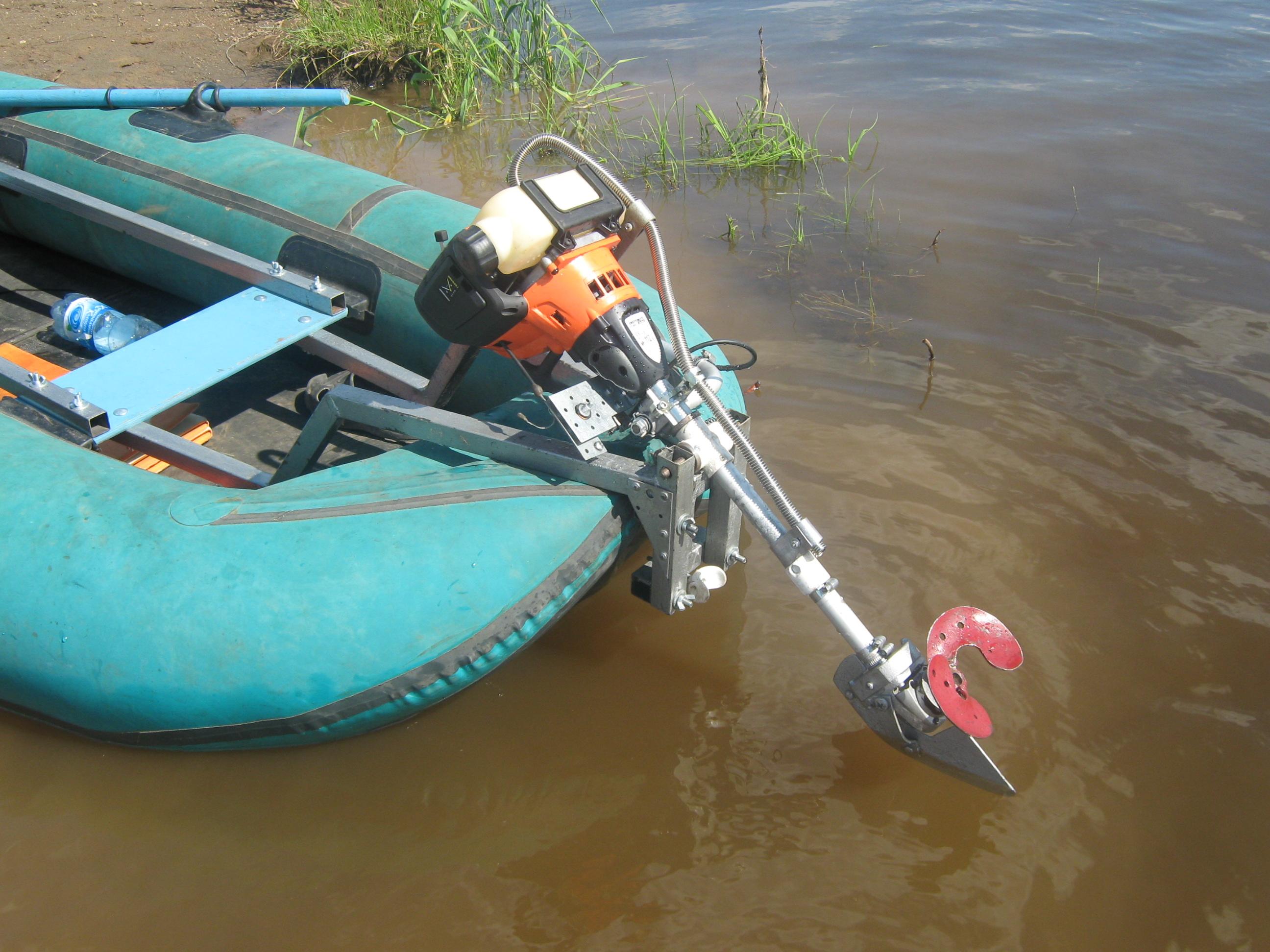 Как сделать мотор на резиновую лодку своими руками 45