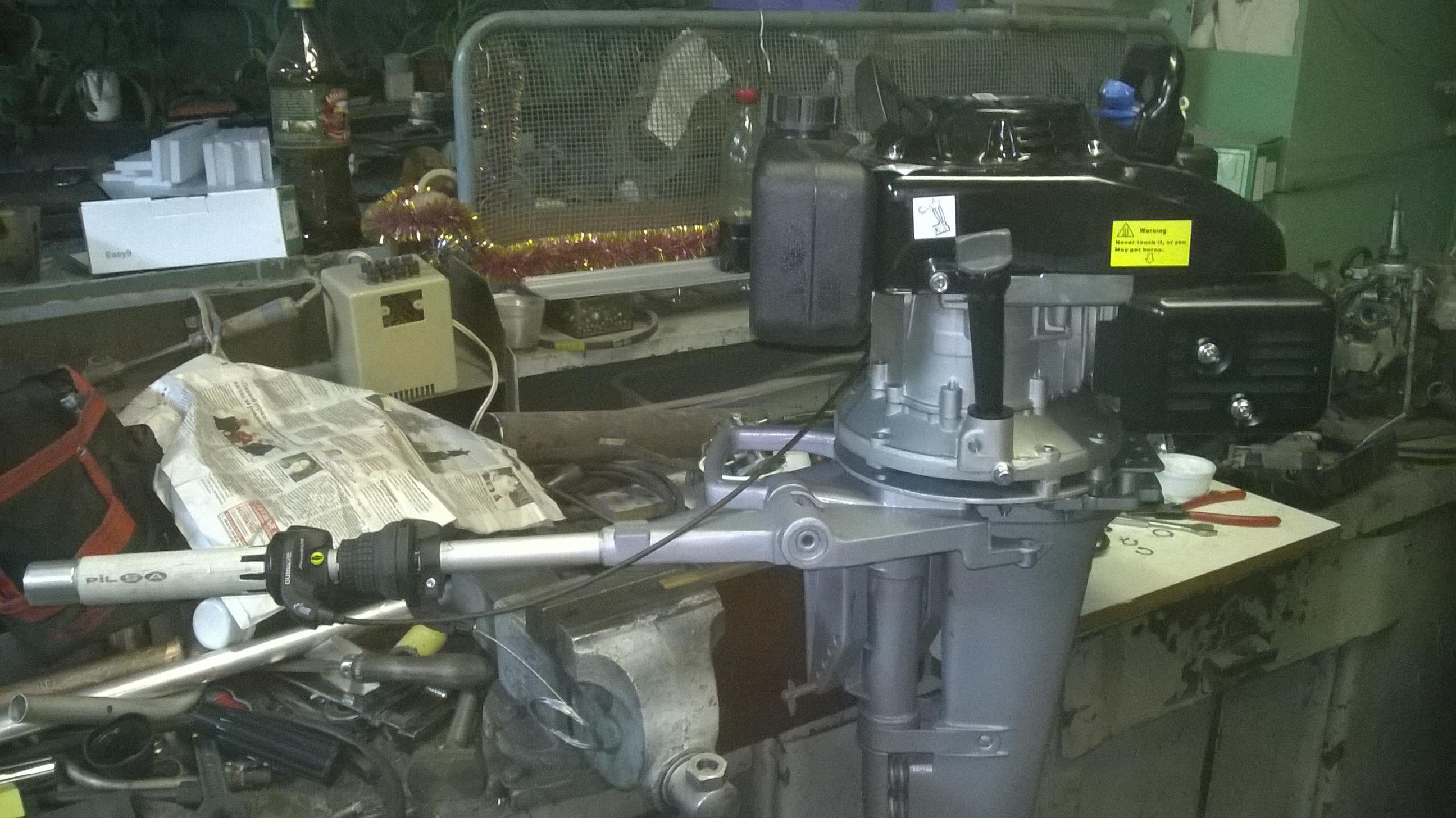 установка двигателя лифан на ветерок 8