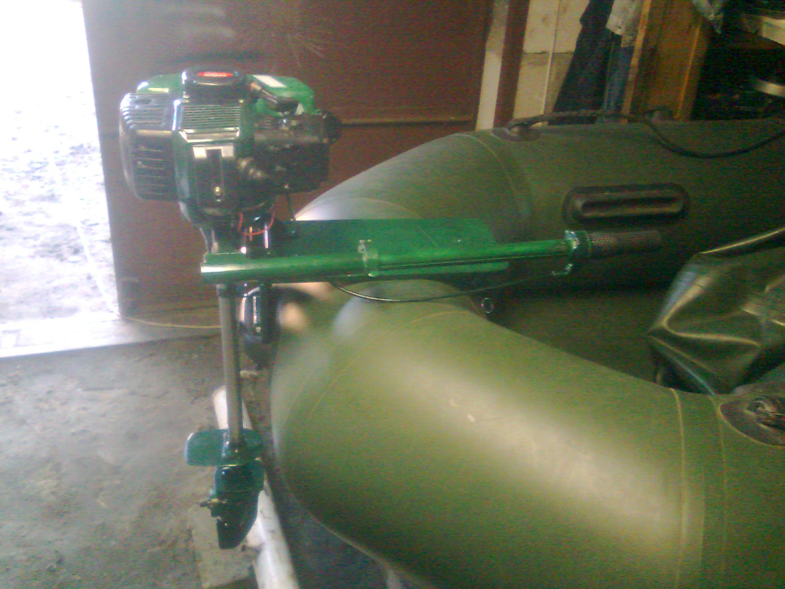 Самодельный двигатель для лодка - Лодочный двигатель из газонокосилки Мастер